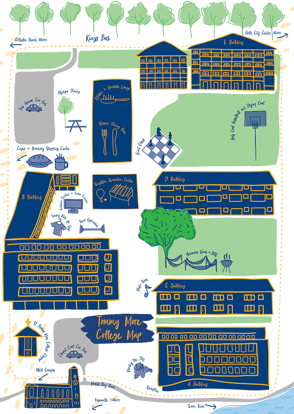 St Thomas More College Map